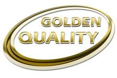 золотистое качество Стоковые Изображения