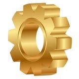 Золотистое колесо cog Стоковые Изображения