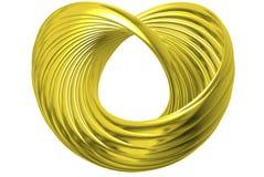 золотистое кольцо сердца Стоковая Фотография RF