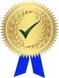 золотистое медаль иллюстрация штока