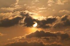 золотистое небо Стоковая Фотография RF