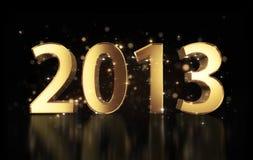 Золотистое Новый Год 2013 Стоковое фото RF