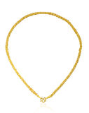 золотистое ожерелье Стоковые Фотографии RF