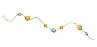Золотистое ожерелье стоковые изображения rf