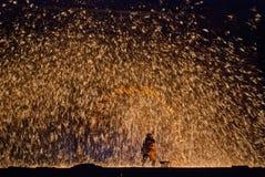 Золотистое пламя стоковые фотографии rf