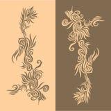 золотистое предпосылки коричневое Стоковое Фото