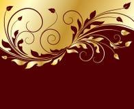 золотистое предпосылки флористическое Стоковые Изображения RF