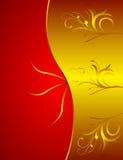 золотистое предпосылки флористическое Стоковые Изображения