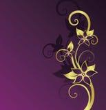 золотистое предпосылки флористическое Стоковые Фото