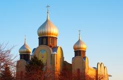 золотистое приданное куполообразную форму церковью стоковое изображение rf