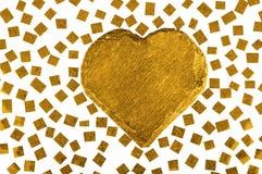 золотистое сердце романтичное Стоковое фото RF