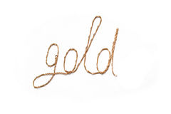 золотистое слово Стоковые Фотографии RF