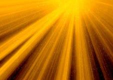 золотистое солнце лучей Стоковое Изображение