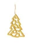 Золотистое украшение рождества стоковые фотографии rf