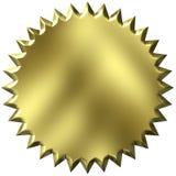 золотистое уплотнение 3d Стоковые Фото