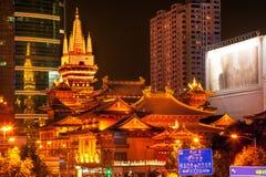 Золотистое Jing висок Шанхай Китай Стоковые Изображения RF