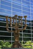 Золотистое Menorah в Иерусалиме Стоковая Фотография RF