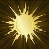 золотистое starburst Стоковые Изображения