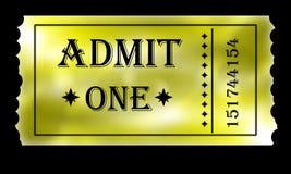 Золотисто впустите один билет Стоковая Фотография RF