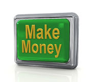 золотисто заработайте деньги Стоковые Изображения