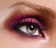 золотисто сделайте розовое поднимающее вверх стоковое изображение rf