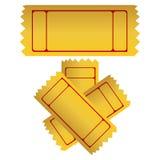 золотистые билеты Стоковые Фотографии RF