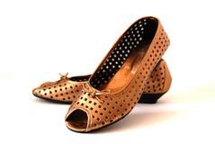 золотистые ботинки Стоковые Фото