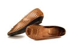 золотистые ботинки Стоковое Фото