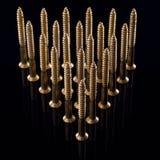 золотистые винты несколько Стоковое Изображение RF