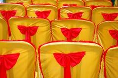 Золотистые желтые крышка и бюрократизм Стоковые Фото