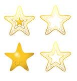 золотистые звезды Стоковые Изображения