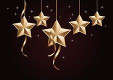 золотистые звезды Стоковые Фото