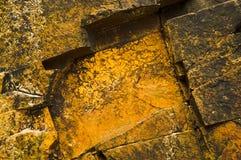Золотистые камни Стоковое Изображение