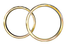 золотистые кольца Стоковое фото RF