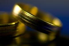 золотистые кольца Стоковое Изображение RF