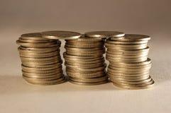 Золотистые монетки Стоковая Фотография RF