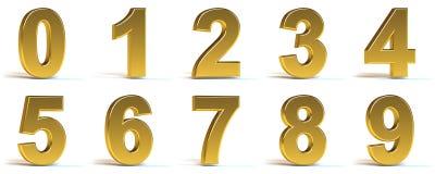 золотистые номера Стоковое Изображение RF