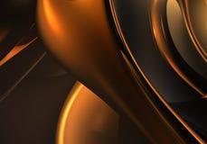 золотистые проводы Стоковая Фотография RF