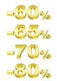 золотистые проценты Стоковые Фотографии RF