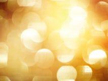 Золотистые расплывчатые света Стоковые Фотографии RF
