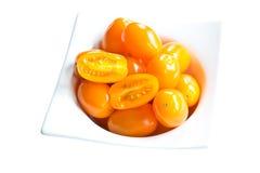 Золотистые томаты сливы Стоковое Изображение