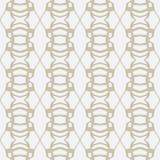 Золотистые чернила выравниваются на белой, безшовной картине Стоковые Фото