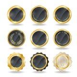 золотистые ярлыки Стоковая Фотография RF