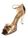 золотистый ботинок стоковое фото