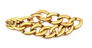 Золотистый браслет Стоковое Изображение