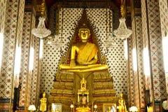 Золотистый Будда искусство виска Стоковые Изображения