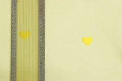 золотистый бумажный желтый цвет тесемки Стоковая Фотография
