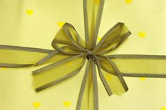 золотистый бумажный желтый цвет тесемки Стоковое Фото