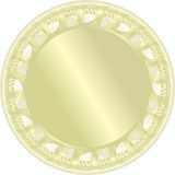 золотистый вектор медали Стоковые Фотографии RF