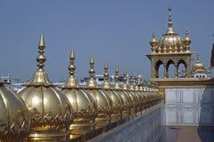 золотистый висок крыши стоковое фото